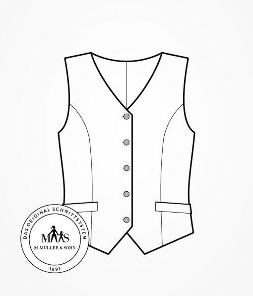 Schnittkonstruktion Weste   Fashionmakery