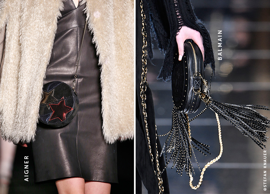 Aigner Balmain Circle Bag Runway