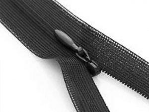 nahtverdeckter Reißverschluss in schwarz zur Veranschaulichung
