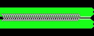 Perlonspirale eines Reißverschlusses