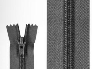 Spiralreißverschluss in schwarz zur Veranschaulichung.