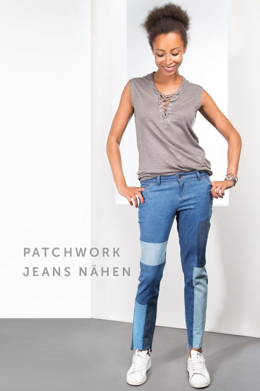 Schnittmuster Patchworkjeans | Fashionmakery