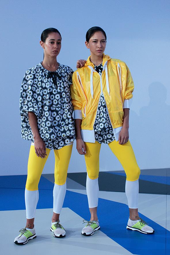 Zwei Looks von Stella McCartney für Adidas aus dem Frühjahr/Sommer 2014.