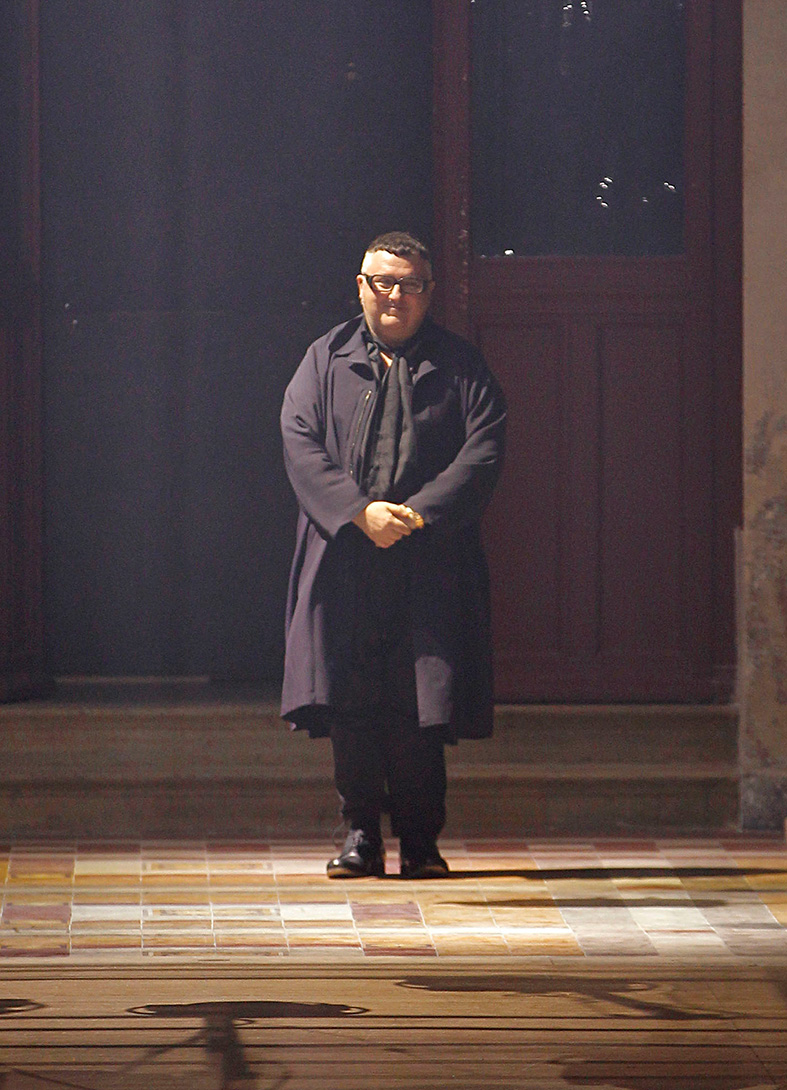 Chefdesigner ALBER ELBAZ von Lanvin nach seiner Show in Paris