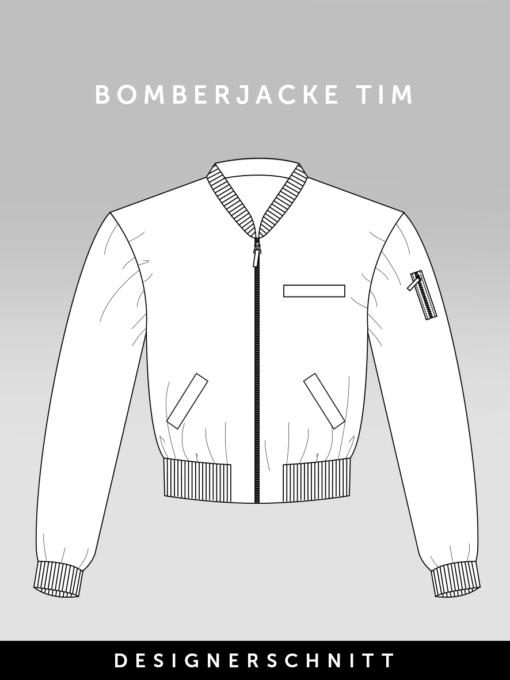 Schnittmuster Bomberjacke Tim | Fashionmakery